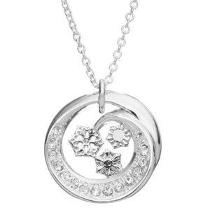 DISNEY FROZEN SNOWFLAKE CRYSTAL PENDANT NECKLACE